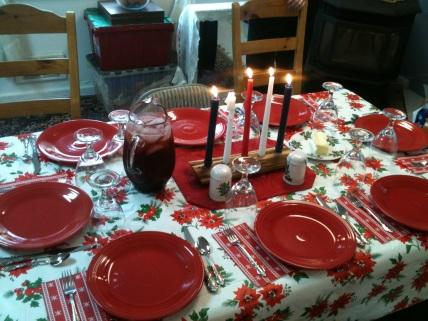 Dinner set up
